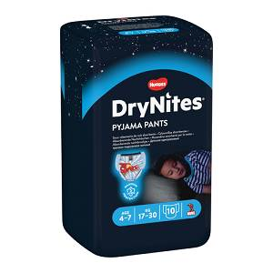 HUGGIES DRYNITES BOY 4/7AN 10P